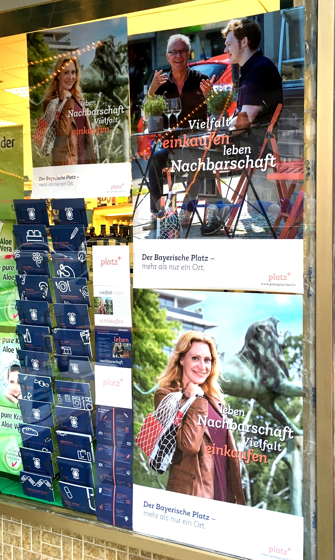 Platz + - Werbekampagne für Bayerischen Platz