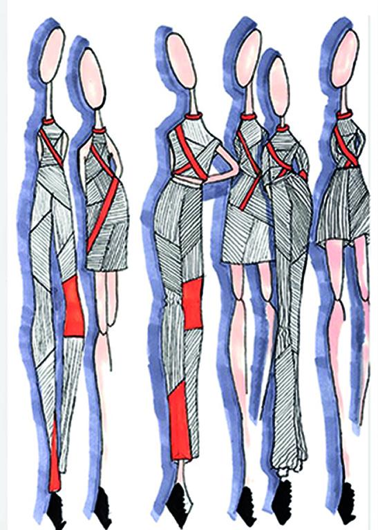 2018 Arbeiten aus dem Ausbildungsgang Modedesign