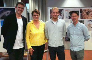vlnr.: Dr. Vincent Meyer, Julia von Randow, Arthur Pohlit, Marco Friedmann (Foto Meyer)